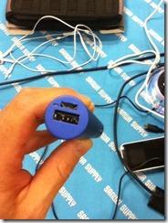 アルミモバイルバッテリー700-BTL008BL(ブルー)