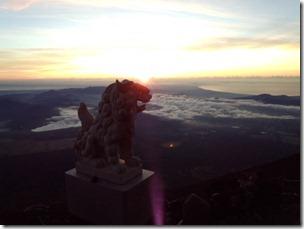 富士山頂からの御来光
