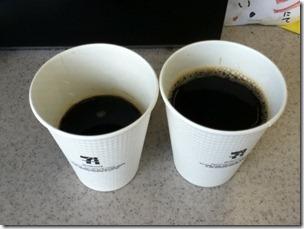 セブンカフェのホットコーヒー
