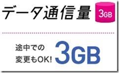IIJmioのコミコミセットはデータ通信3GB