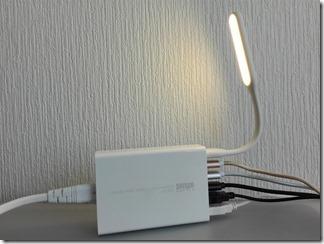 Xiaomi(シャオミ)ポータブルUSB LEDライト強化版をUSBアダプタで