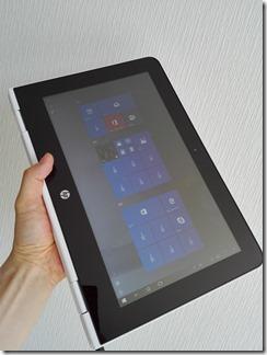 「HP x360 11-ab000」のタブレットモード