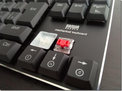 「400-SKB057R」赤軸メカニカルキーボード
