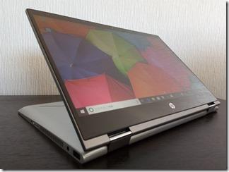 「HP Pavilion x360 14-cd0000」スタンドモード