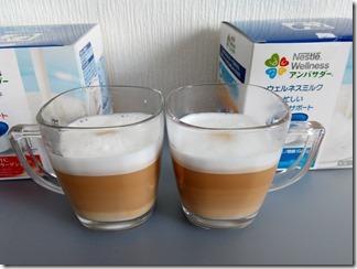 ウェルネスミルクのカフェラテ